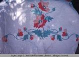 Flower applique quilt, Moab, Utah, 1953