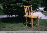 Carved wooden chair, Alpine, Wyoming, 1965