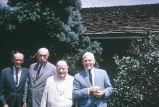 Folklorists Austin Fife, Starkey, Stith Thompson, and Wayland Hand, UCLA, 1969