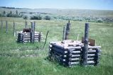 Fence bracing, Wyoming, 1967
