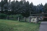 Zig-zag horse and rider fence, south of Livingston, Montana, 1973