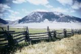 Horse and rider fence, Dell, Montana, 1948