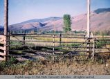 Pole fence panel, Wyoming, 1963