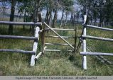 Jack fence and pole gate, Lander, Wyoming, 1967