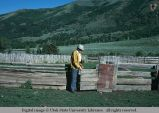 Vertical slab fence, east of Oakley, Utah, 1977