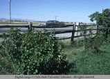 Mortise and tenon pole fence, Rexburg, Idaho, 1973
