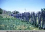 Picket fence, Mountain View, Wyoming, 1967