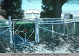 Front yard gate, Malad, Idaho, 1978