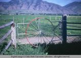 Buggy wheel gate, Logan, Utah, 1968