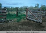 Corral gate, Livingston, Montana, 1978