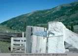 Gate hinge, May, Idaho, 1977