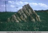 Stacked hay, south of Calgary, Alberta, Canada, 1965