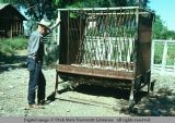 Feed rack and trough, Holbrook, Idaho, 1975