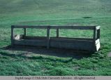 Feed rack, near Dodge, Washington, 1977