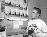 Glen Passey, from Ovid, Idaho, the skyline discus champion, 1960