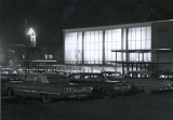 Union Building, night view, Spring 1966, Utah State University