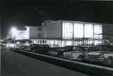 Union Building, night view, Spring 1966, Utah State University.