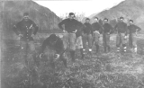 1915 football team at practice