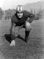 Football player Seth Maughan of Wellsville, Utah, 1941