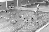 Swimming class in the Logan Junior High School swimming pool, 1960s