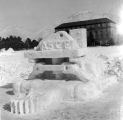 Snow sculpture created by A.S.C.E. at the Winter Carnival, 1954-55