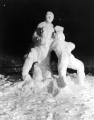 Snow sculpture at the Winter Carnival, 1950s