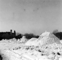 Snow sculptures in the Winter Carnival, 1954-55