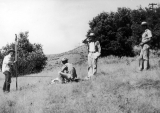 Surveying class at the Forestry Camp, Logan Canyon, 1960s