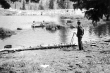 Students canoeing at Forestry Camp, 1930s