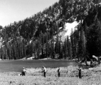 Surveying class at Forestry Camp, Logan Canyon, 1960s