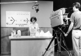Filming of a television program at the campus TV station, KUSU, 1960s