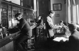 Students working in the College Bank, 1900-1909