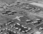 Aerial view of campus housing, 1963