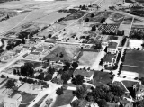 Aerial view of campus looking east, September 4, 1935