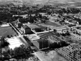 Aerial view of campus looking west, September 4, 1935