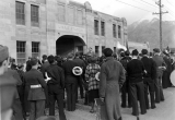 Dedication of training quarters at Romney Stadium, Tuesday, December 16, 1937