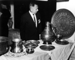 Display of Middle Eastern (Iranian?) artifacts, 1960s