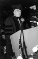 Governor George D. Clyde, after receiving an honorary degree during Commencement, 1957
