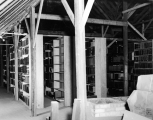 Library storage area in the attic of the Plant Industry building, 1950s