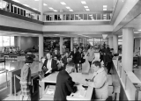 Check out stand and loan desk in the Merrill Library, 1964