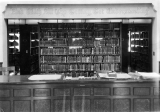 Loan desk, Merrill Library, 1930s