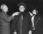 Award of honorary degree to E.L. Romney, 1960