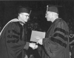 Reed Warner Bailey receiving honorary doctorate degree, 1960