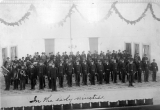 Companies A and B of the Military Cadet Corp with the College Band, circa 1894