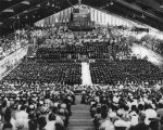 Commencement ceremony in the Fieldhouse, 1960s