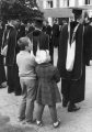 Faculty in the Commencement procession, 1950s