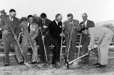 Groundbreaking ceremonies for the Agricultural Science building, 1955