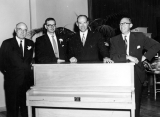 Former University President E. G. Peterson with three other men men, 1960s