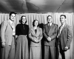USAC President Louis Madsen, his wife Edith, Gary Theurer, and another man and woman standing in...