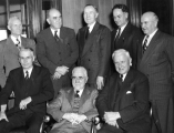 USAC President Franklin S. Harris with a group of seven men